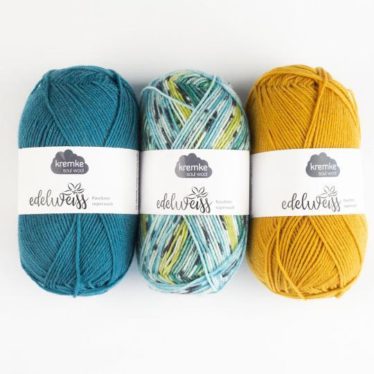 Kremke Soul Wool Edelweiss Kaschmir 4fach 50g
