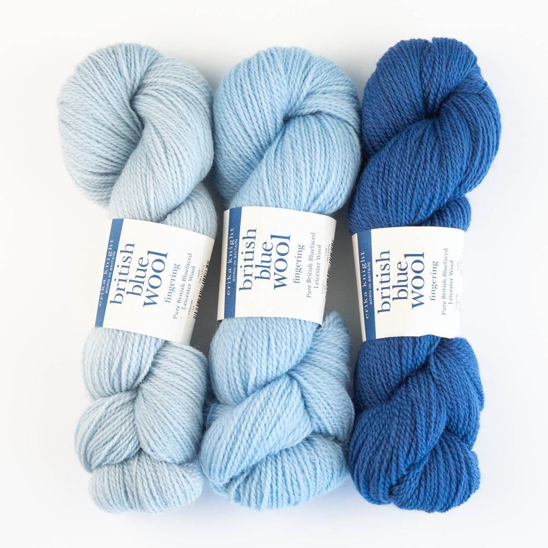Erika Knight British Blue Wool Fingering