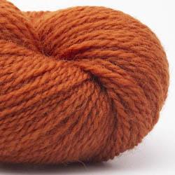 Erika Knight British Blue Wool Fingering Burnt Orange