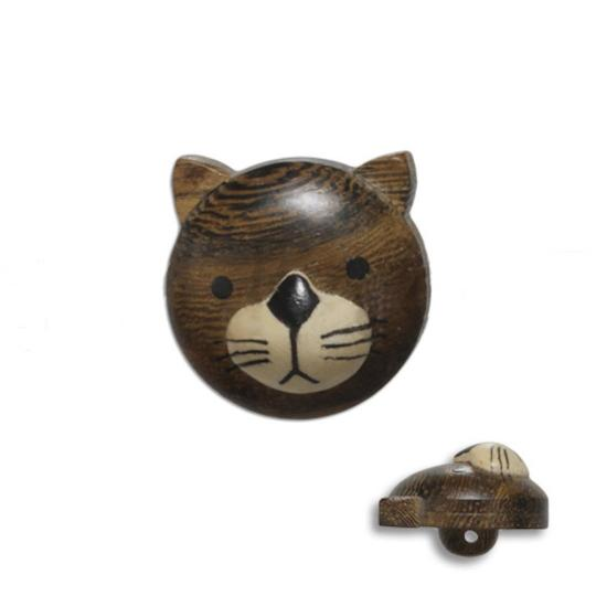Jim Knopf Holz-Ösenknopf Katze 20mm