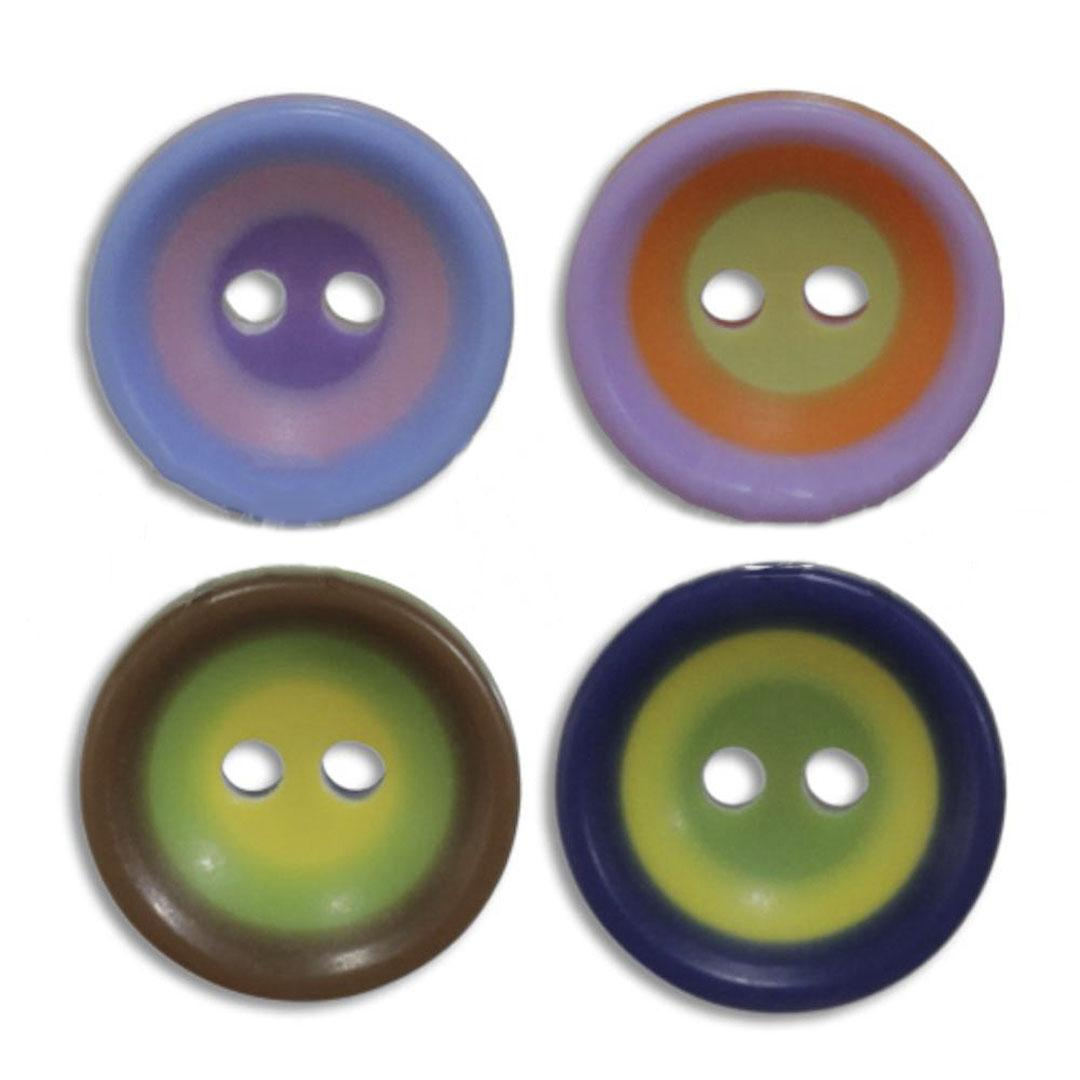 Jim Knopf Colorful plastic button circles 13mm
