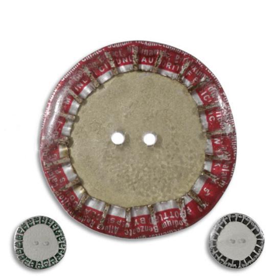 Jim Knopf Knopf aus recycelten Kronkorken 28mm