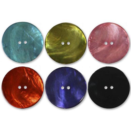 Jim Knopf Agoya Muschel Knopf verschiedene Farben und Größen