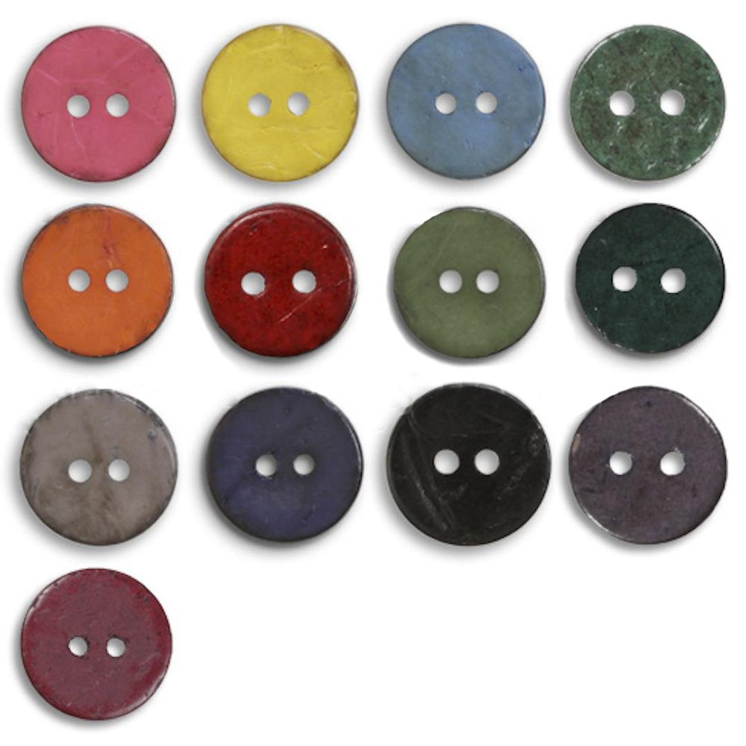 Jim Knopf Coco wood button flat 40mm