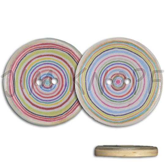 Jim Knopf Resin Kunstharz Knopf Bunte Kreisel verschiedene Größen