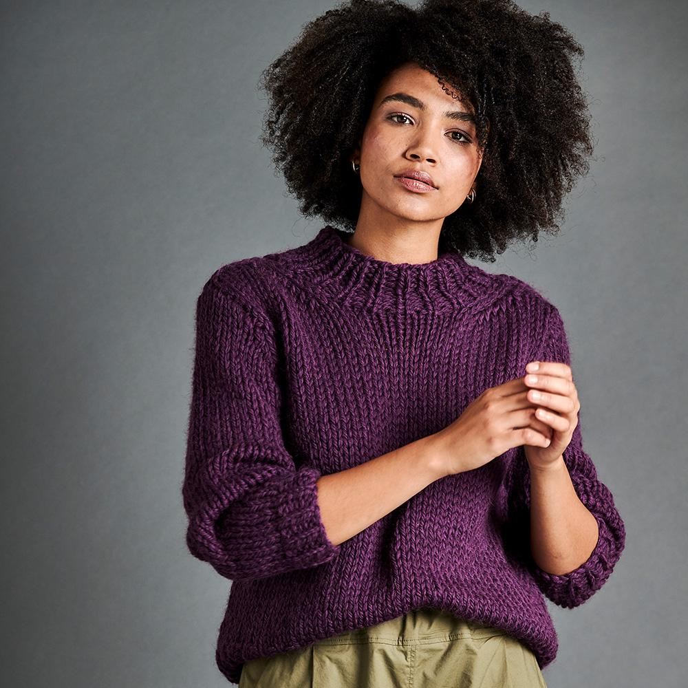 Erika Knight Pattern PASSERBY for Maxi Wool EK0008