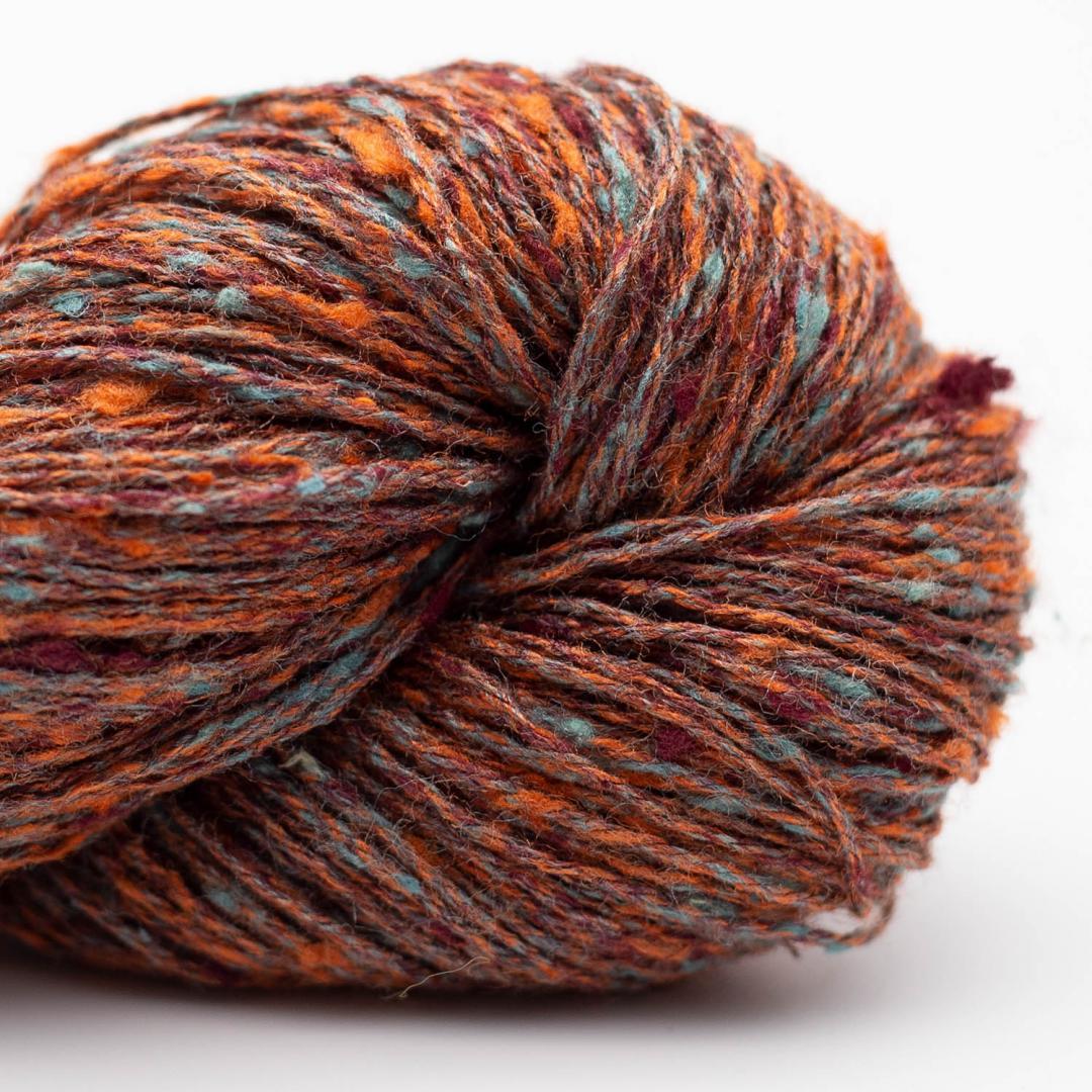 BC Garn Tussah Tweed rust-aqua-mix