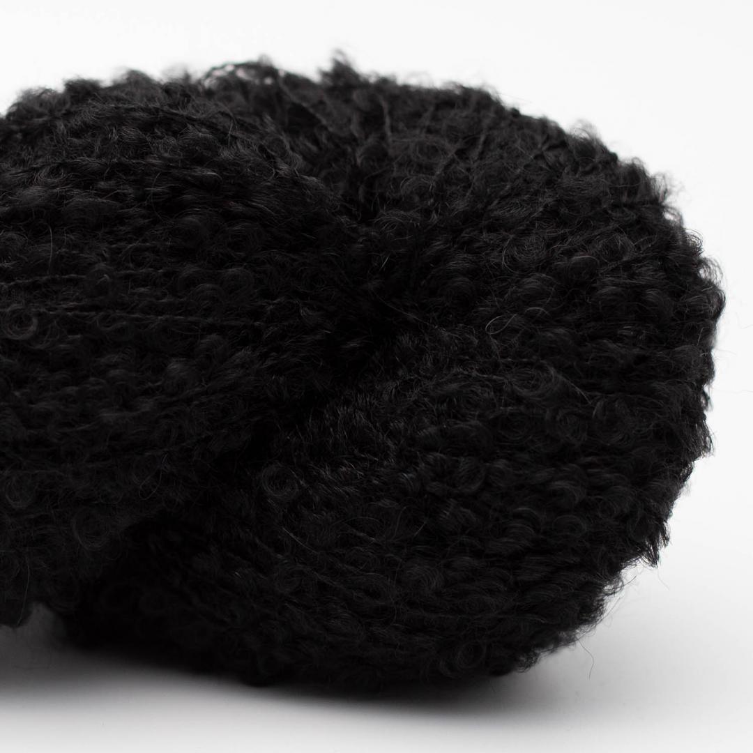 Kremke Alpaca Bouclé Schwarz