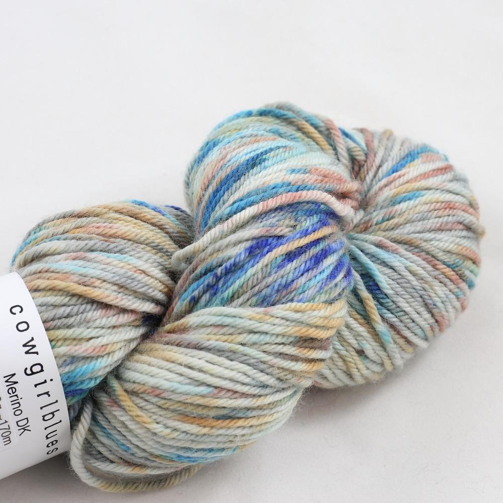 Cowgirl Blues Merino Twist Yarn gradient Shorebreak dusty