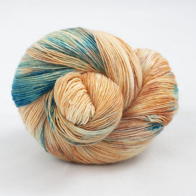 Cowgirl Blues Merino Single Lace gradient Shorebreak Sunset